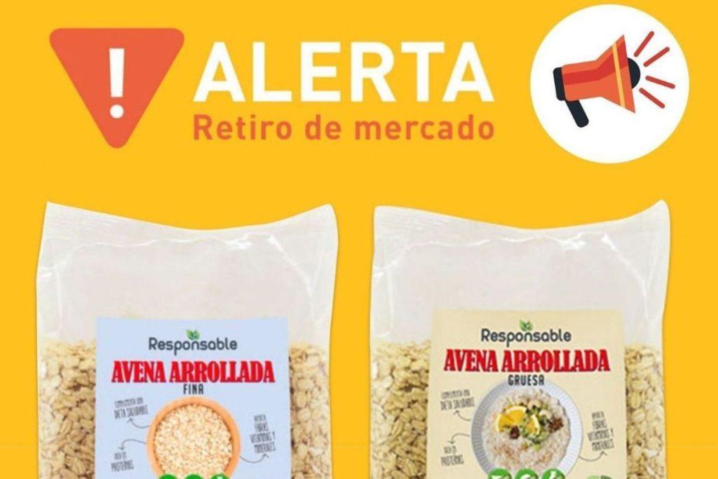 retiro de avena libre de gluten del mercado